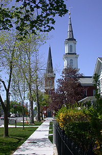 2 of the famous Four Churches in Palmyra, NY
